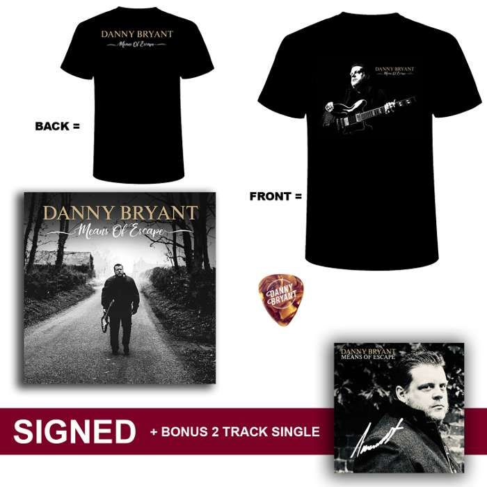 CD + SHIRT + PICK + 2 TRACK SINGLE - Danny Bryant