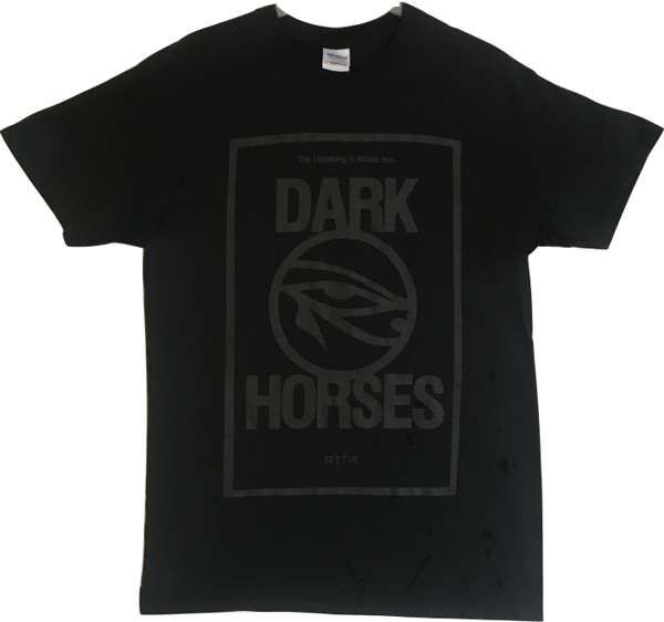 Dark Horses T-shirt - black on black - Dark Horses