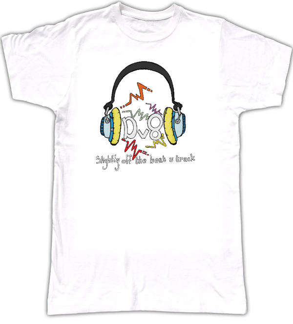 Fabulous T-Shirt Emblazoned With The Brook Valentine Design Dv8 Logo - Dave Nicholls Music