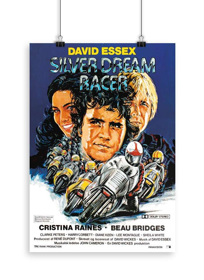 Signed Silver Dream Racer Limited Edition Classic Blue Screenprint - David Essex