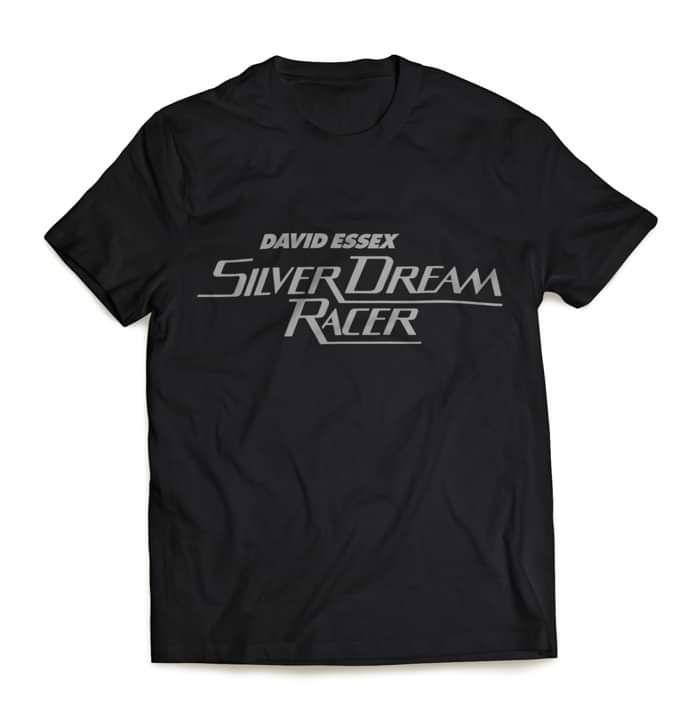 Silver Dream Racer Badge T Shirt - David Essex
