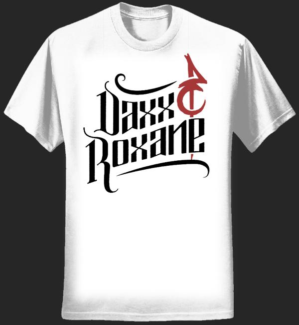 D&R White T-shirt - Unisex - Daxx & Roxane