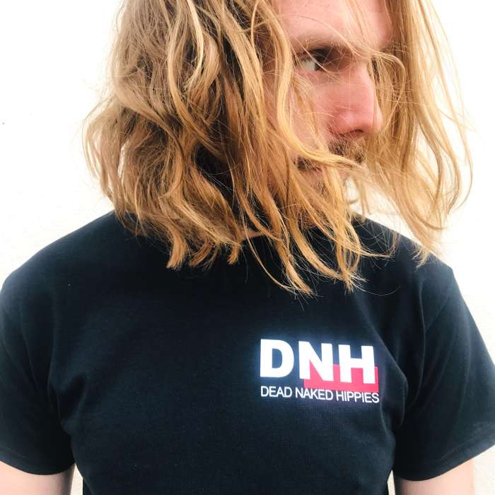FRONT/BACK PRINT DNH TEE - BLACK - Dead Naked Hippies