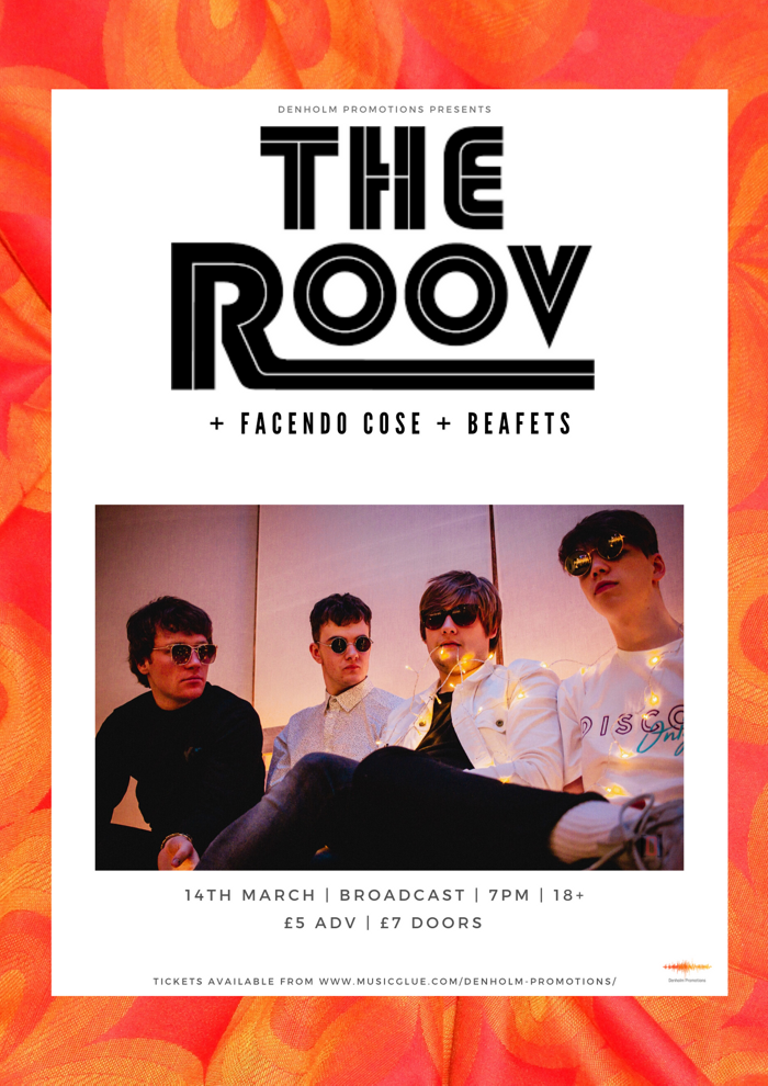 The Roov + Special Guests - Denholm Promotions