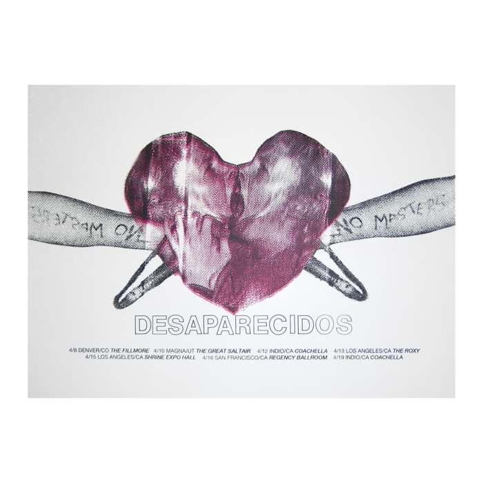 Heart Tour Poster - Desaparecidos