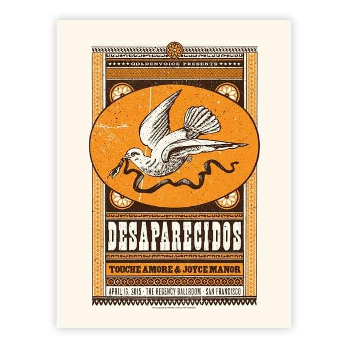 Regency Ballroom Tour Poster - Desaparecidos