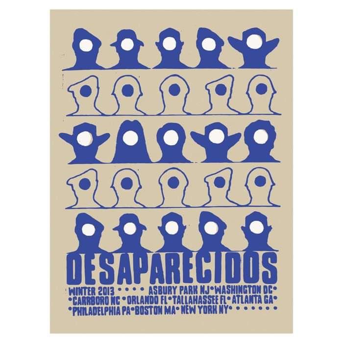 Winter 2013 Tour Poster - Desaparecidos