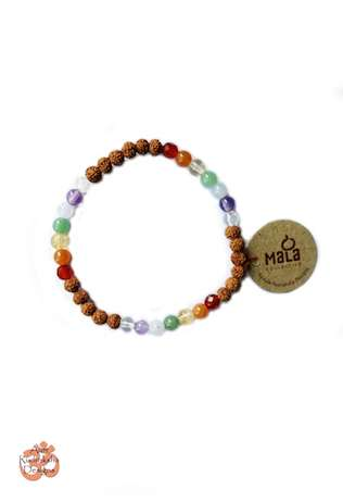 Aum Rudraksha Chakra Stones Bracelet - Deva Premal & Miten USD