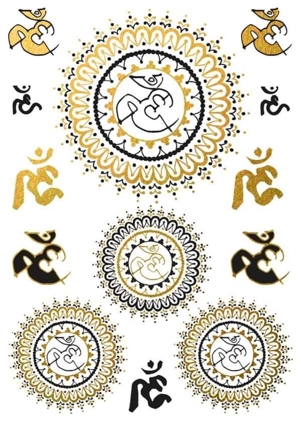 Temporary Tattoos - Deva Premal & Miten USD