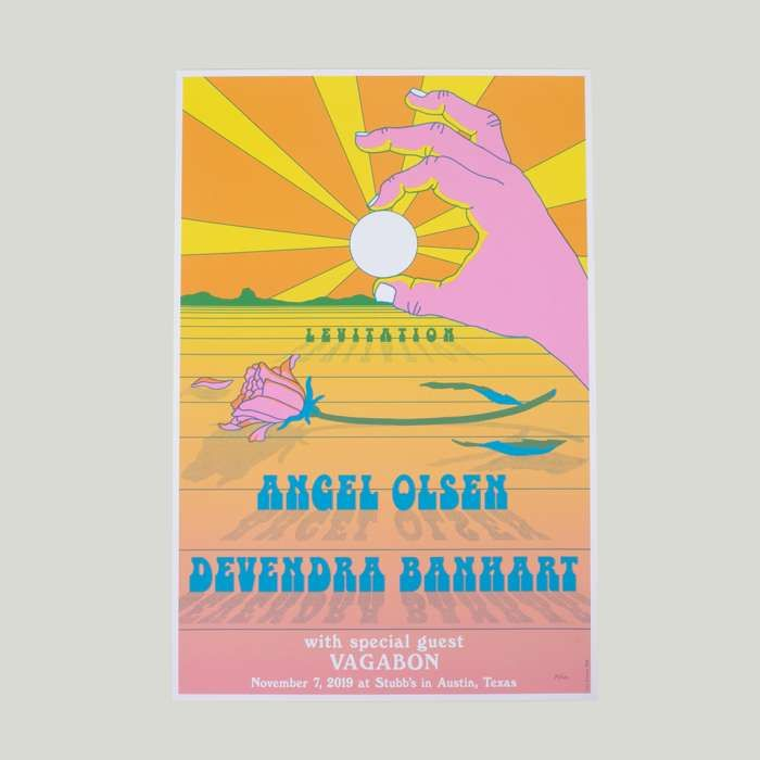 Limited Edition Levitation Austin Tx Show Poster - Devendra Banhart