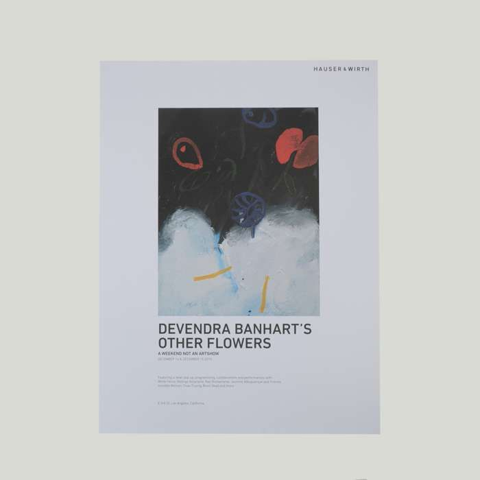 Other Flowers LA Hauser & Wirth Event Poster - Devendra Banhart