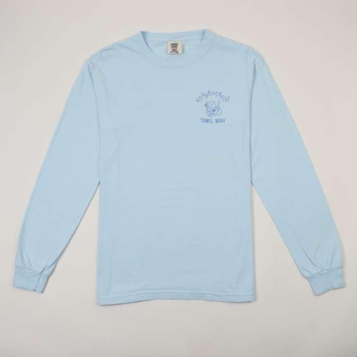 Tamil Nadu Light Blue Long Sleeve T-Shirt - Devendra Banhart