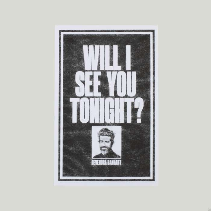 Will I See You Tonight Risograph Print - Devendra Banhart