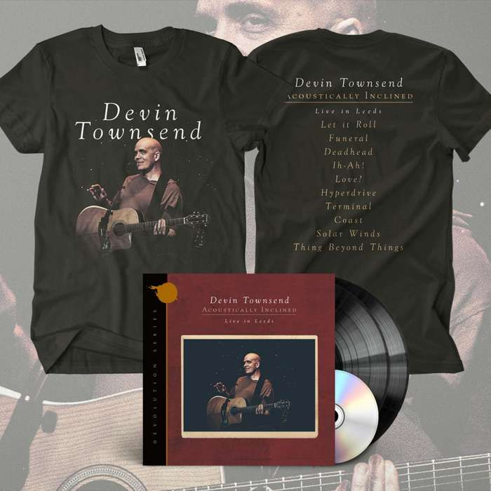 Devin Townsend - 'Devolution Series #1 - Acoustically Inclined, Live in Leeds' Ltd. Gatefold Black 2LP+CD & T-Shirt Bundle - Devin Townsend