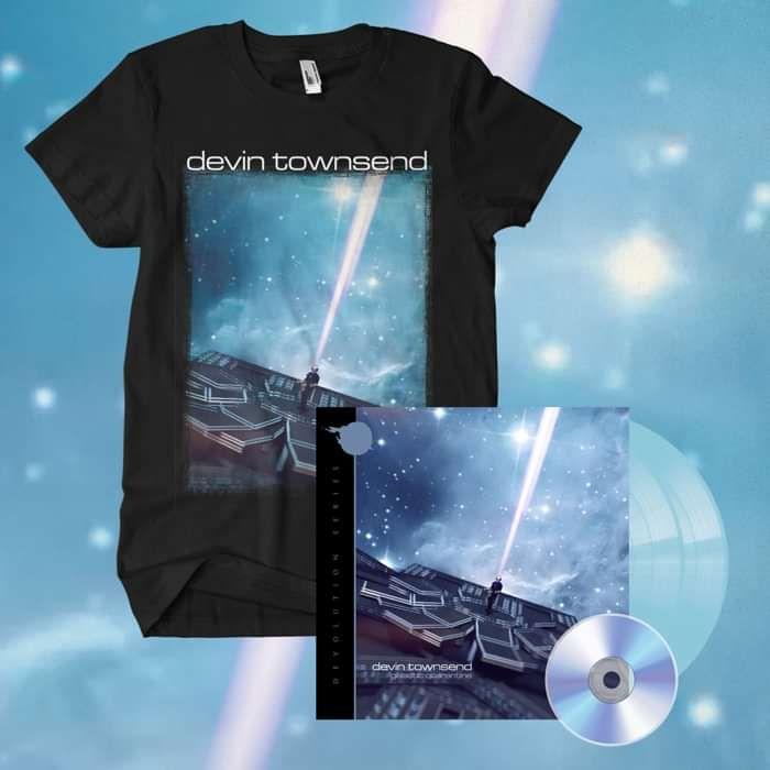 Devin Townsend - 'Devolution Series #2 - Galactic Quarantine' EXCLUSIVE Gatefold Light Transparent Blue 2LP+CD & T-Shirt Bundle - Devin Townsend