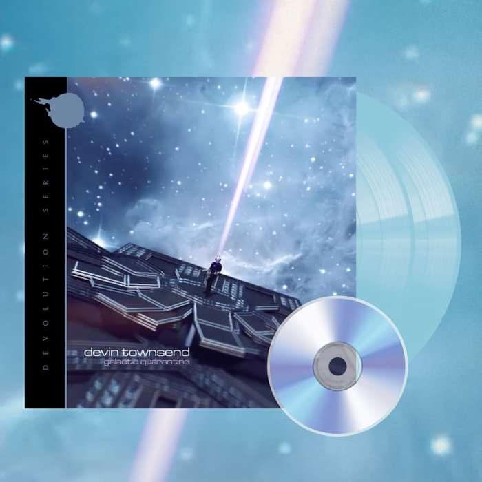 Devin Townsend - 'Devolution Series #2 - Galactic Quarantine' EXCLUSIVE Gatefold Light Transparent Blue 2LP+CD - Devin Townsend