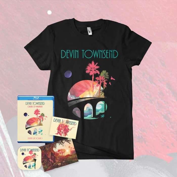 Devin Townsend - 'Order Of Magnitude - Empath Live Volume 1' Blu-ray + Postcard, Coaster & Sticker + T-Shirt Bundle - Devin Townsend