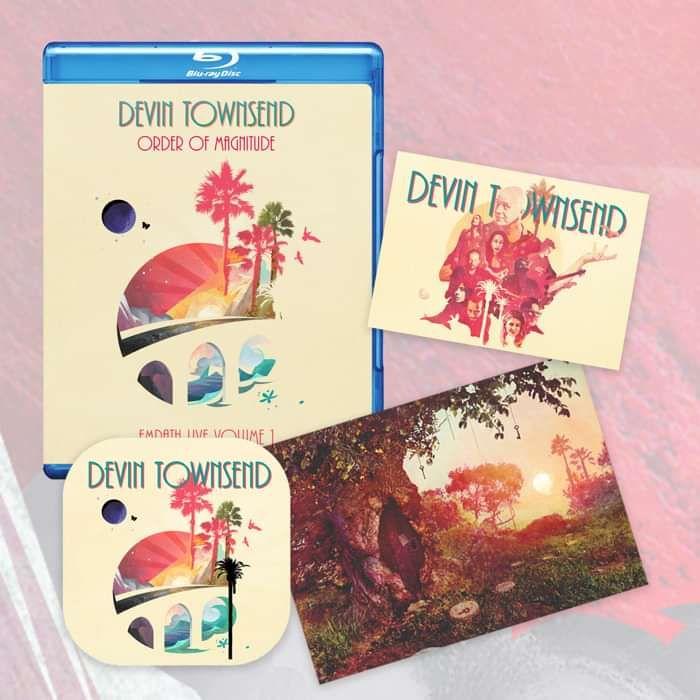 Devin Townsend - 'Order Of Magnitude - Empath Live Volume 1' Blu-ray + Postcard, Coaster & Sticker - Devin Townsend