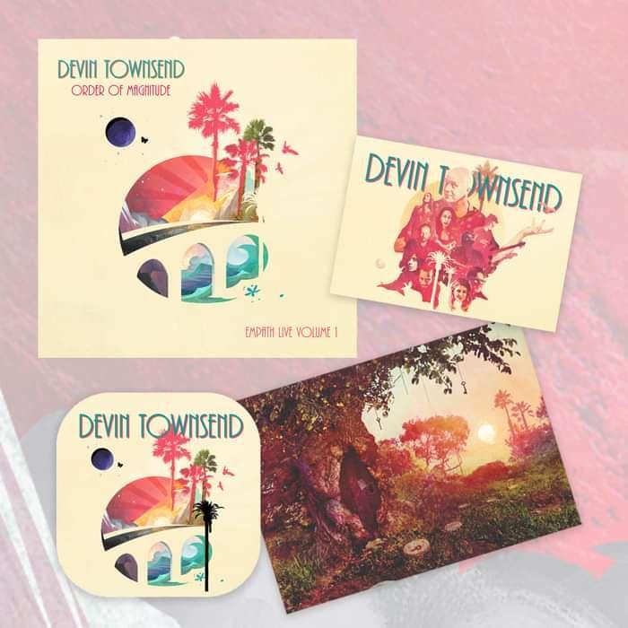 Devin Townsend - 'Order Of Magnitude - Empath Live Volume 1' Ltd. 2CD+DVD Digipak + Postcard, Coaster & Sticker - Devin Townsend