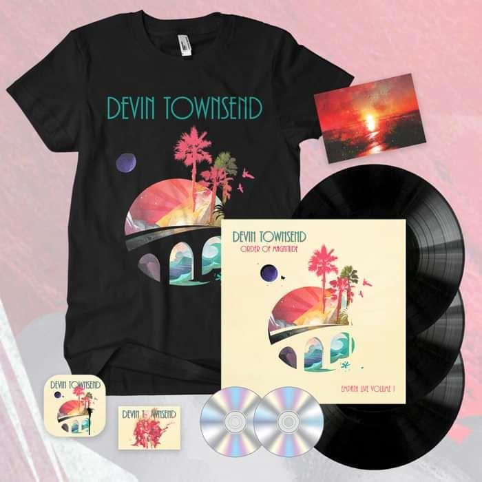 Devin Townsend - 'Order Of Magnitude - Empath Live Volume 1' Ltd. Black 3LP+2CD Box Set + Postcard, Coaster & Sticker + T-Shirt Bundle - Devin Townsend