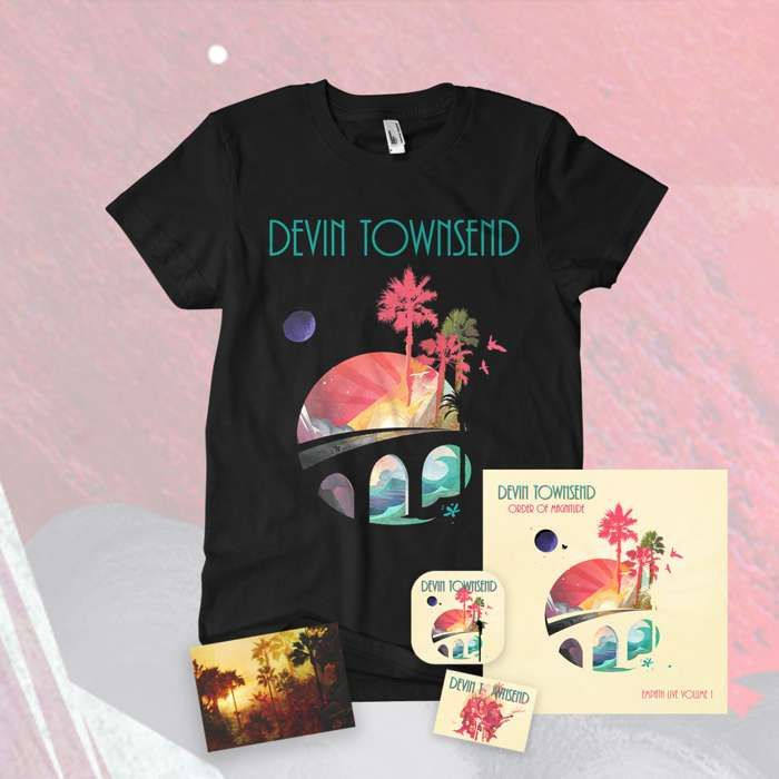 Devin Townsend - 'Order Of Magnitude - Empath Live Volume 1' Ltd. Deluxe 2CD & Blu-ray & DVD Artbook + Postcard, Coaster & Sticker + T-Shirt Bundle - Devin Townsend