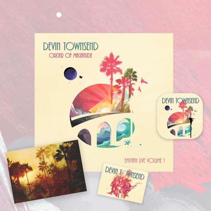 Devin Townsend - 'Order Of Magnitude - Empath Live Volume 1' Ltd. Deluxe 2CD & Blu-ray & DVD Artbook + Postcard, Coaster & Sticker - Devin Townsend