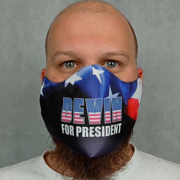 Devin Townsend - 'President' Face Mask - Devin Townsend