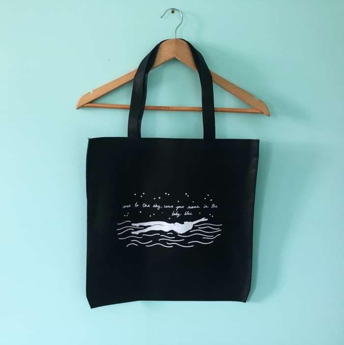 'Backstroke' Tote Bag - DizzythebandNA