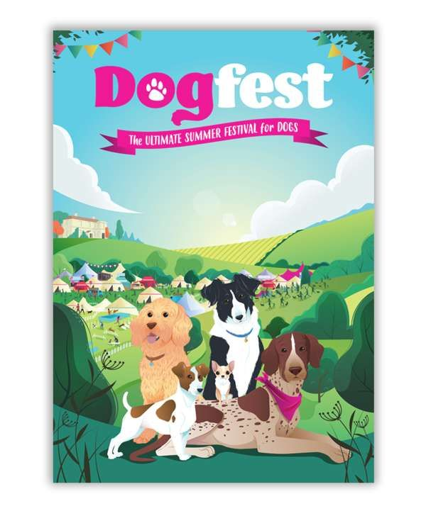 Dogfest Allover Picture Tea Towel - Dogfest