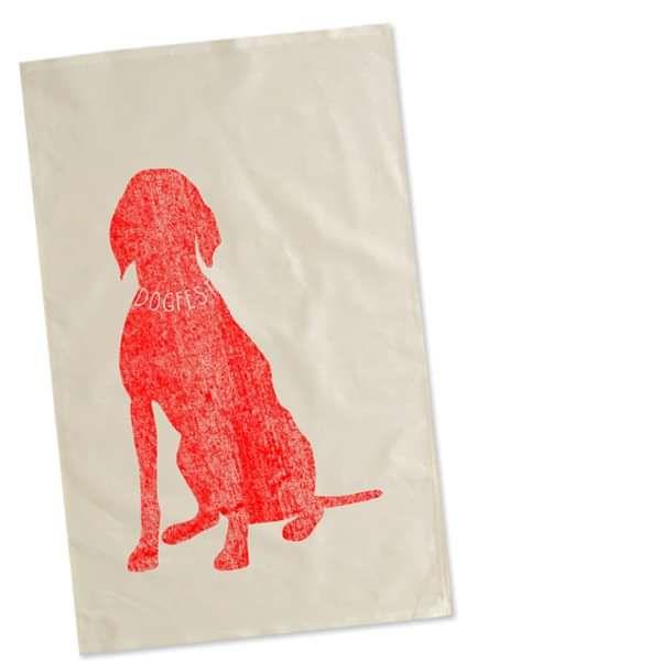 "Dogfest ""Big Dog"" Natural Tea Towel - Dogfest"