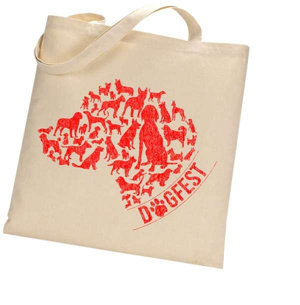 """Dogfest """"Doghead"""" Natural Bag - Dogfest"""