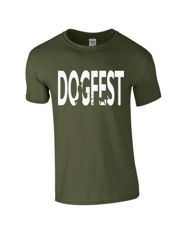 Dogfest Dogwalker Khaki Tee - Dogfest