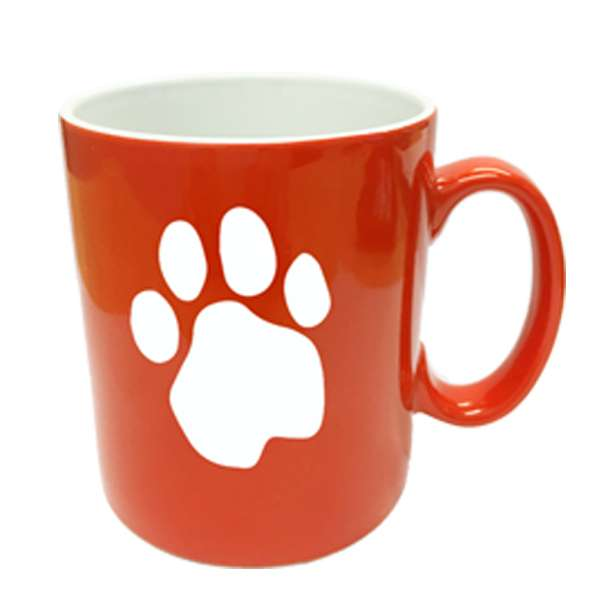 "Dogfest ""Paw Print"" Red & White Mug - Dogfest"