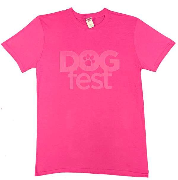 Dogfest Puff Print Pink Tee - Dogfest