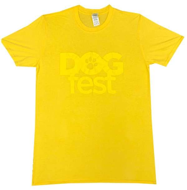 Dogfest Puff Print Yellow Tee - Dogfest