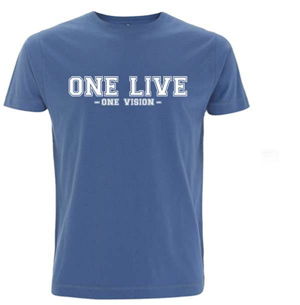 """One Live/One Vision"" Denim Blue Tee - Dogfest"
