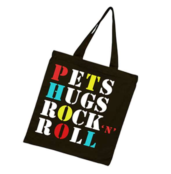 """""""Pets & Hugs"""" Stencil Tote Bag - Dogfest"""