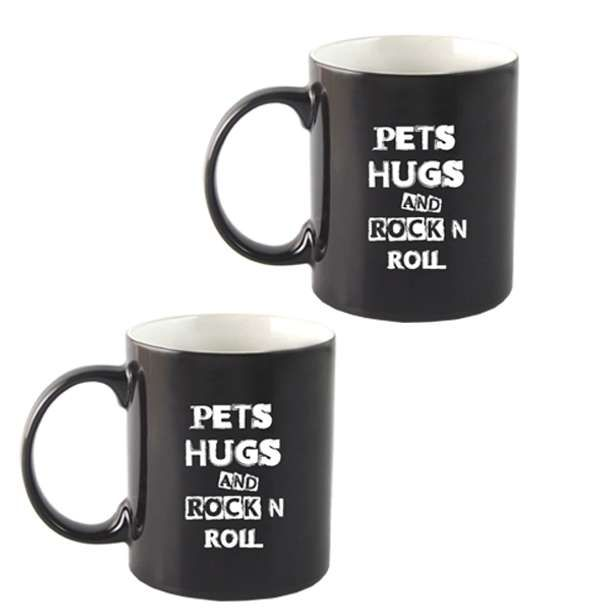 """Pets Hugs Rock'n'Roll"" Mug - Dogfest"