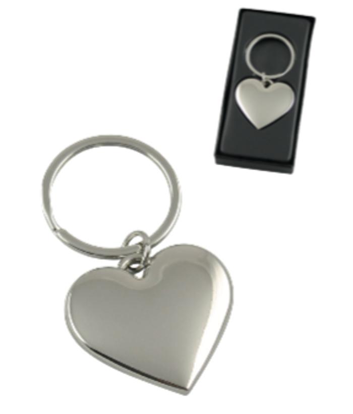 Metal Heart Shaped Keyring/Handbag Charm - Donny - US