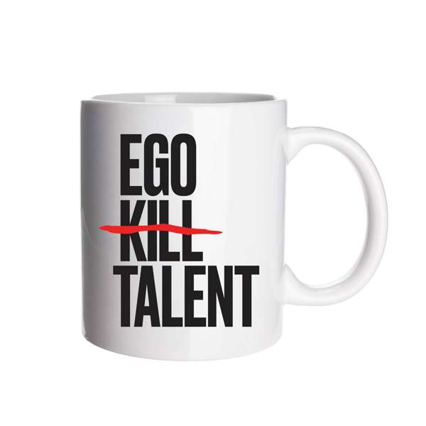 Logo - White Mug - Ego Kill Talent [USA]