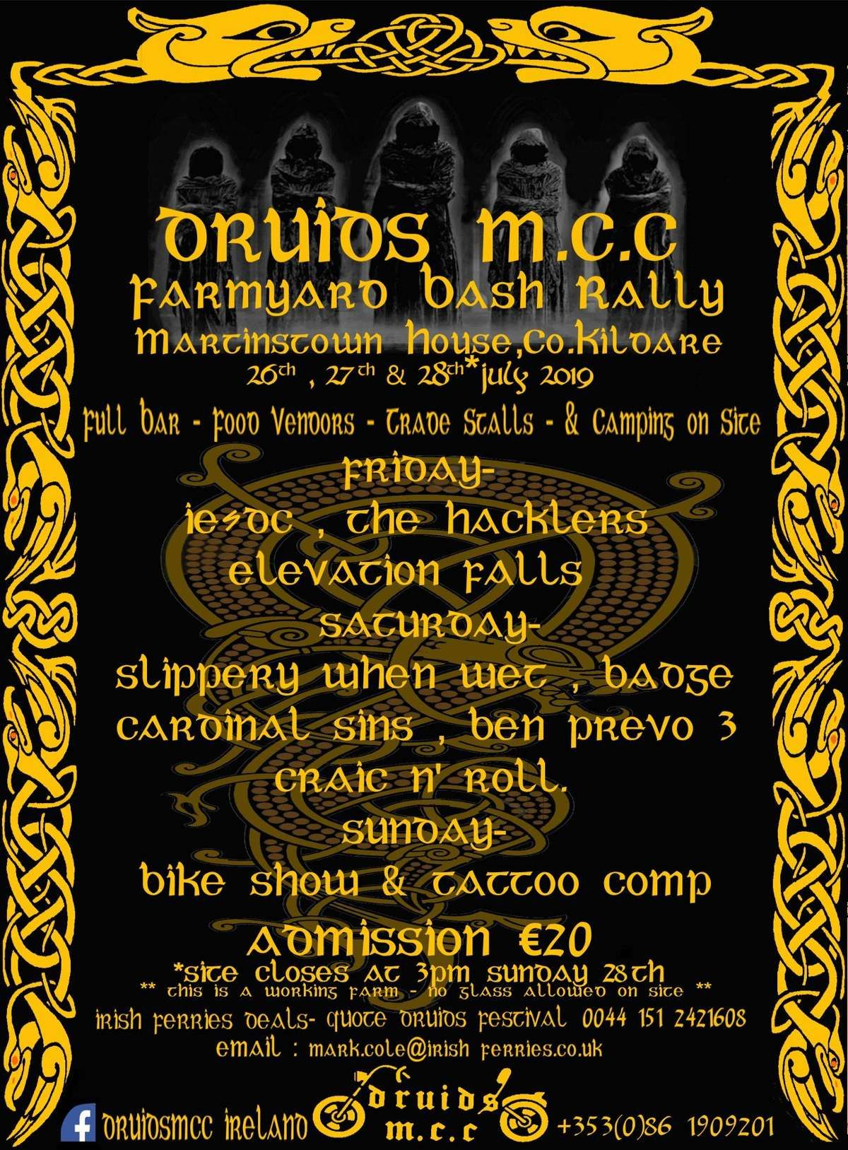 Druids M.C.C Farmyard Bash 2019 @ Martinstown House
