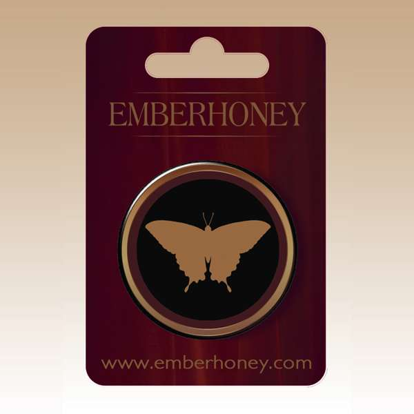 Butterfly Emblem Button Badge - EMBERHONEY