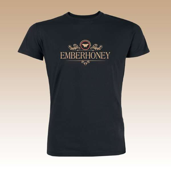 Men's White Gold........               Logo T Shirt - EMBERHONEY