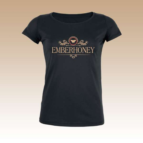 Women's White Gold........ Logo T Shirt - EMBERHONEY