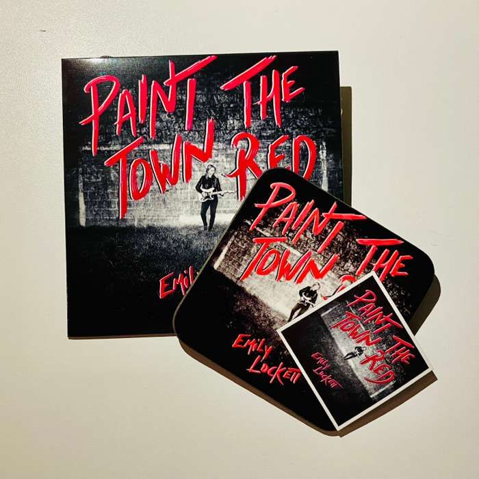 Bundle - Paint the Town Red CD (2020) includes coaster + fridge magnet - Emily Lockett Music