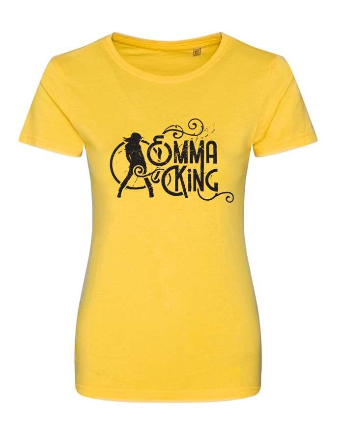Women's Slim Fit Summer Tee (Yellow) - Emma King
