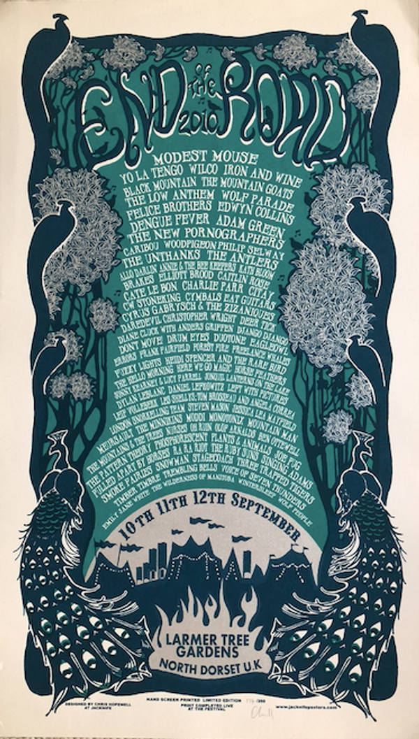 2010 Screenprinted Poster - End of the Road Festival
