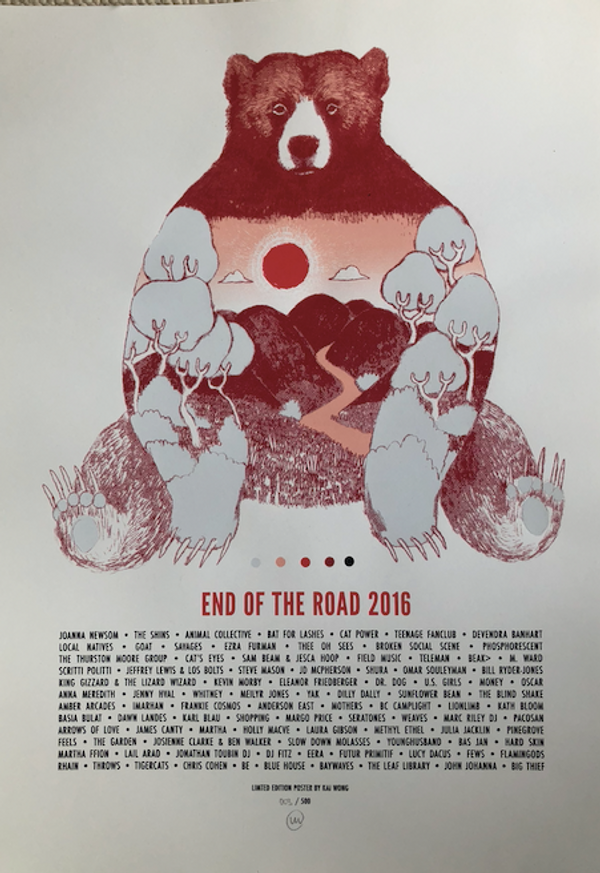 2016 Screenprinted Poster - End of the Road Festival