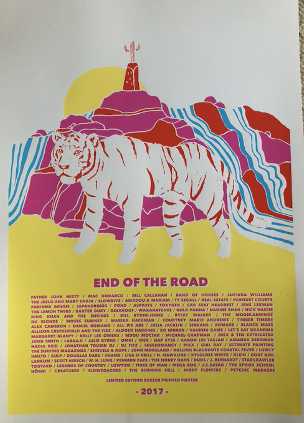 2017 Screenprinted Poster - End of the Road Festival
