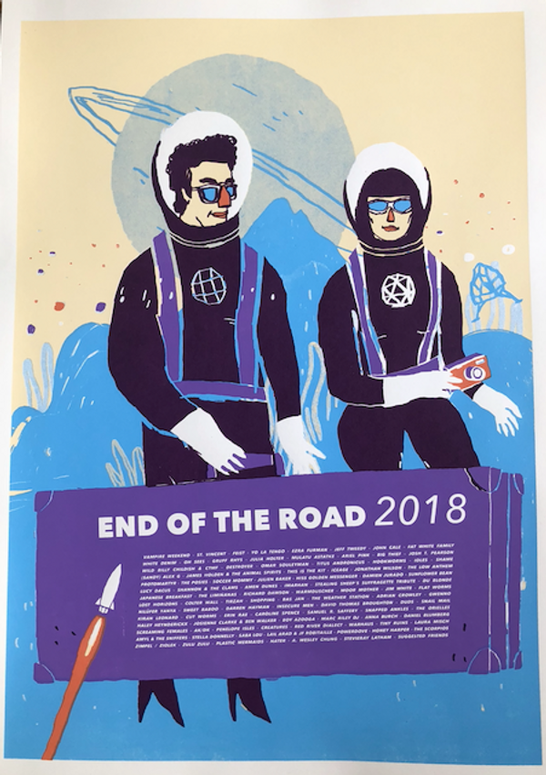 2018 Screenprinted Poster - End of the Road Festival
